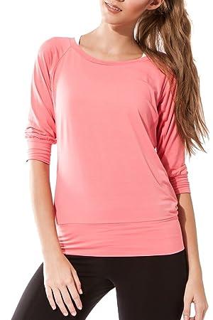 Sternitz - T-Shirt de Sport - Manches 3 4 - Femme - Parfaite pour ... f84d2902e09