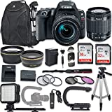 Canon EOS Rebel SL2 DSLR Camera with Canon EF-S 18-55mm f/4-5.6 is STM Lens + New Video Bundle KIT + Extra Memory Cards