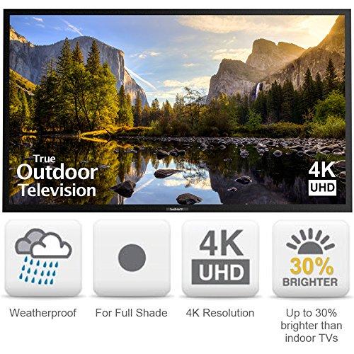 SunBriteTV Weatherproof Outdoor 75-Inch Veranda 4K Ultra HD LED TV – SB-7574UHD-BL Black