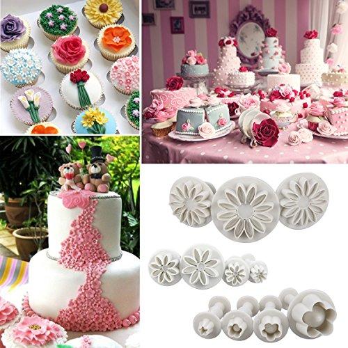 Cadrim Fondant Tools 109pcs Fondant Cutter Cake Decorating Kit Cake Baking Tools Sugarcraft Icing Decoration Kit Flower Modelling Fondant Tools