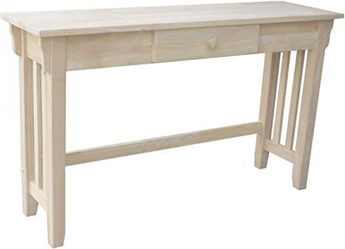 International Concepts Mission Console Table, Unfinished