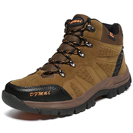 Hiking Shoes Men Ankle Boot Non-Slip Outdoor Suede Leather Climbing Shoe