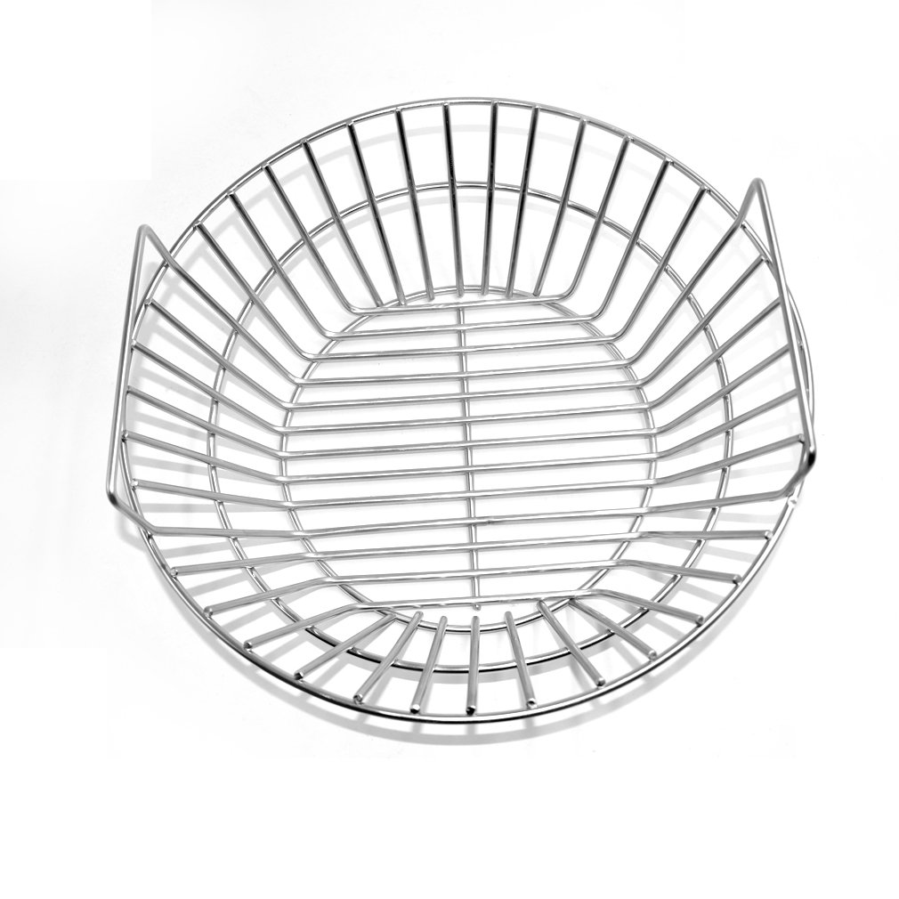 Onlyfire Stainless Steel Charcoal Ash Basket Fits for Large BGE, Kamado Joe Classic by only fire