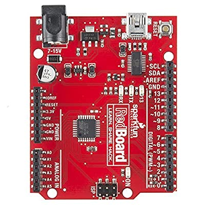SparkFun RedBoard - Programmed (Arduino-Compatible) Breadboard-able Development board w/ R3 footprint Microcontroller serves as physical computing learning platform Connect to computer with USB Mini-B: Toys & Games