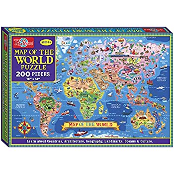 Amazon ts shure map of the world jigsaw puzzle 200 piece ts shure map of the world jigsaw puzzle 200 piece gumiabroncs Images