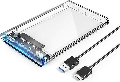 Carcasa para Disco Duro ORICO Caja Transparente Externo USB 3.0 para HDD SSD SATA III de 2,5 Pulgadas de 7mm 9.5mm: Amazon.es: Electrónica