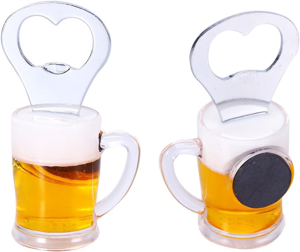 Pattern Random BESTOMZ Novelty Bottle Opener Fridge Magnet Beer Wine Openers A Glass Beer Style
