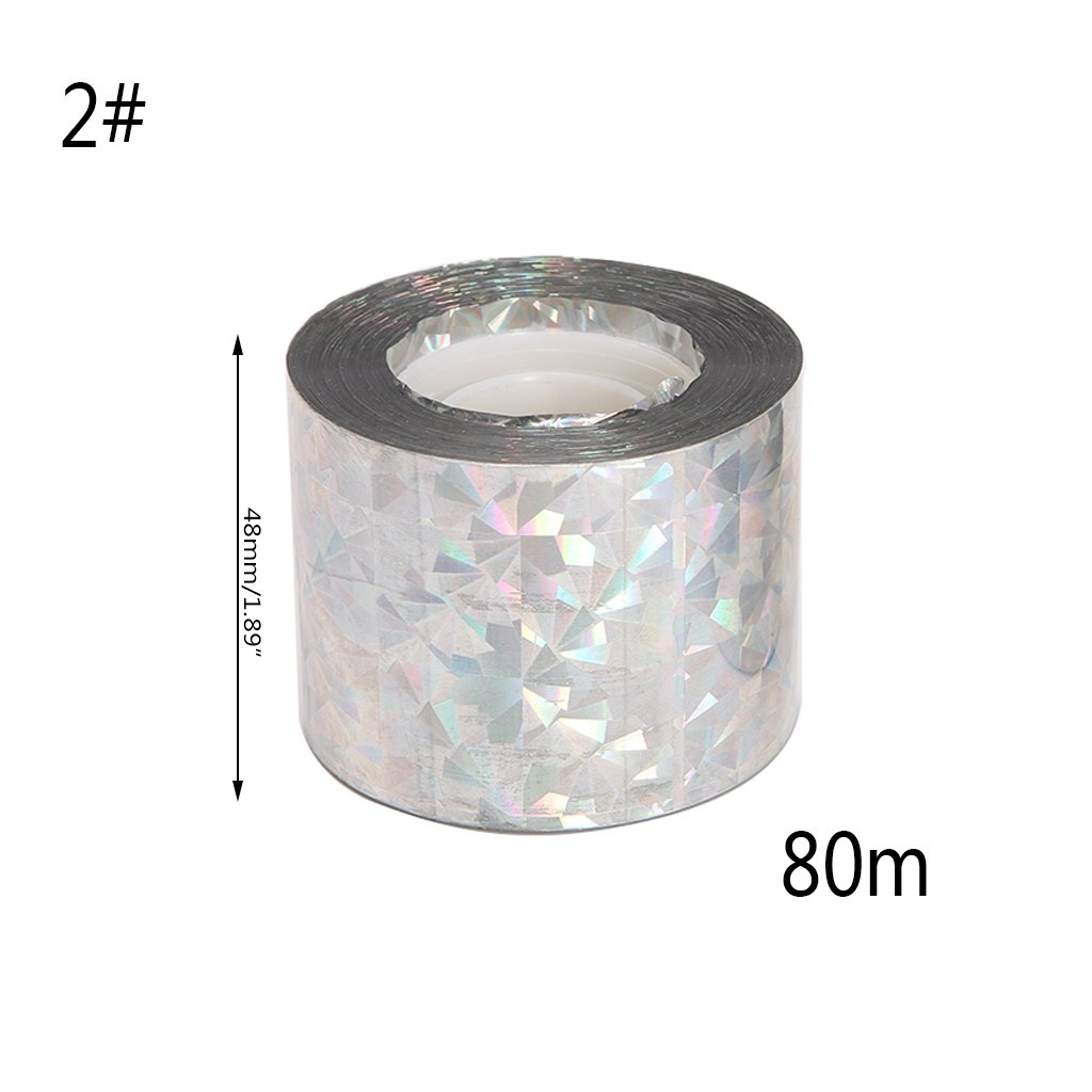 Richi Audible Visual Bird Deterrent Reflective Flash Scare Repellent Emitting Tape 80M (1#)