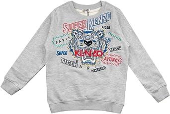 KENZO KIDS TIGER 41 Grigio Manica Lunga T-shirt