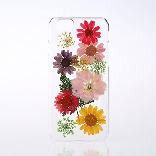 Rebbygena Pressed Flower Samsung Galaxy S7 Case Real Flower Phone Case Galaxy S7 Soft Tpu Silicone Clear Case With Multi Color Flower Petal For Samsung S7 Phone Case Cover by Rebbygena