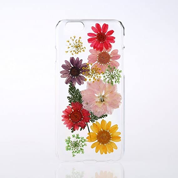 best service 7289a 2f6f9 Rebbygena Pressed Flower iPhone 7 Plus Case Real Floral iPhone 8 Plus Case  Soft TPU Silicone Clear Case with Multi Color Flower Petal Apple Phone Case  ...