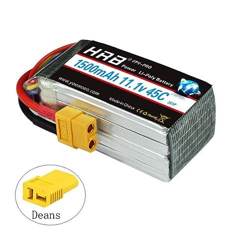 1500mah 45c Ls180 Batteria Xt60 Per H210 11 Qav250 1v Lipo Hrb 3s TikuPXZO