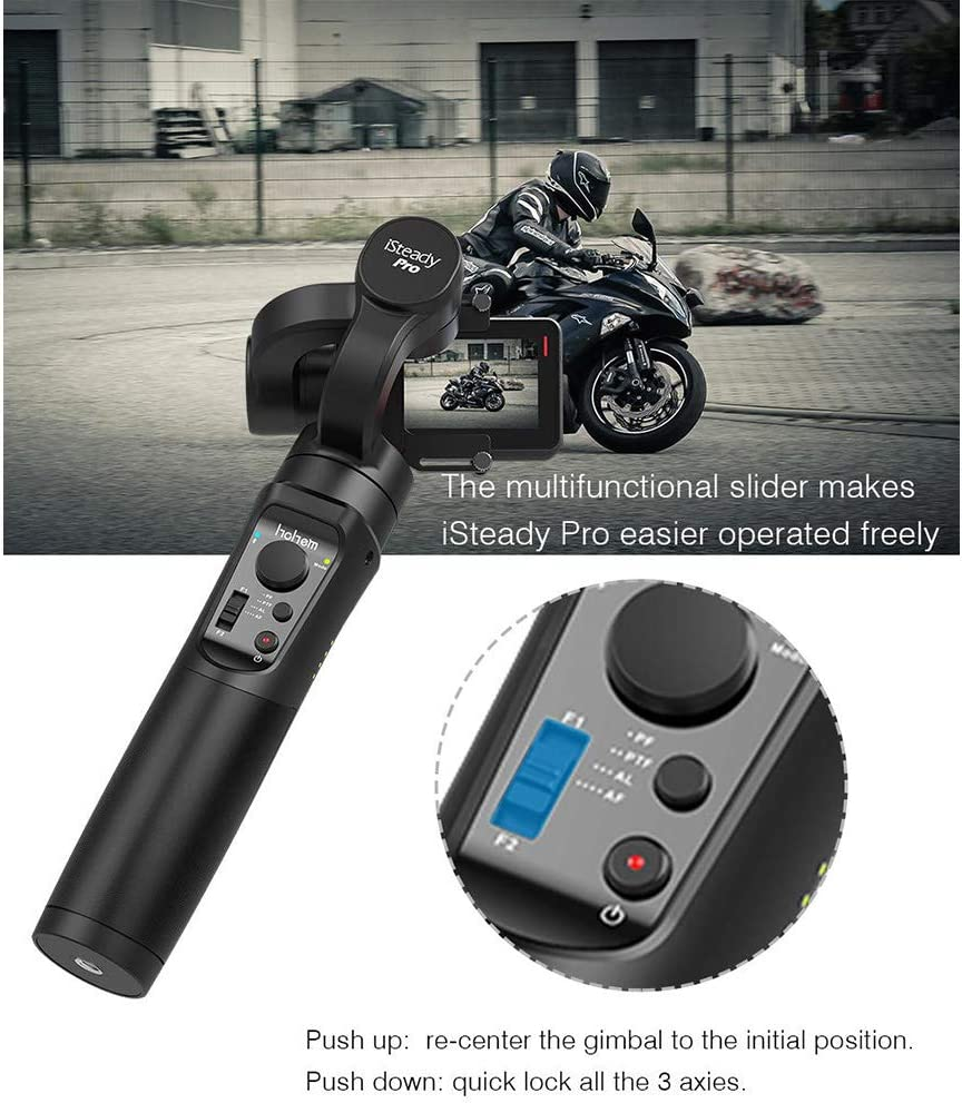 LDJC Handheld Stabilizer Smartphone Video Stabilizer Panoramic Angle 360/° Experience Mobile Follower Motion Scene Compatible with Gоpгонего6// 5//4//3//Small Ant Camera