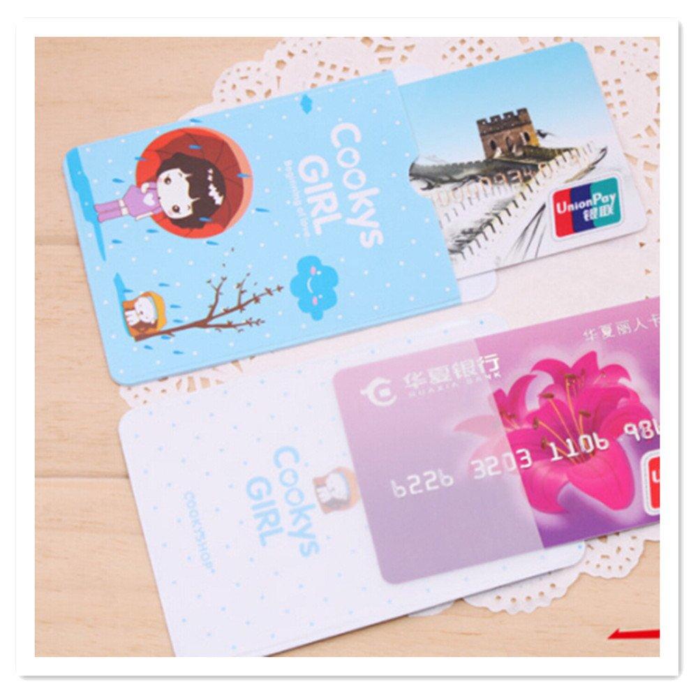 Pochette Carte Enfant Cartoon Protecteur de Carte didentit/é en PVC avec Pochette de Carte pour Double Bus c/ôt/é pour Filles 20 Pcs