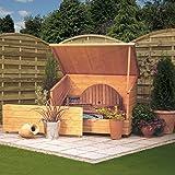 Rowlinson Outdoor Wood Deck Storage Box