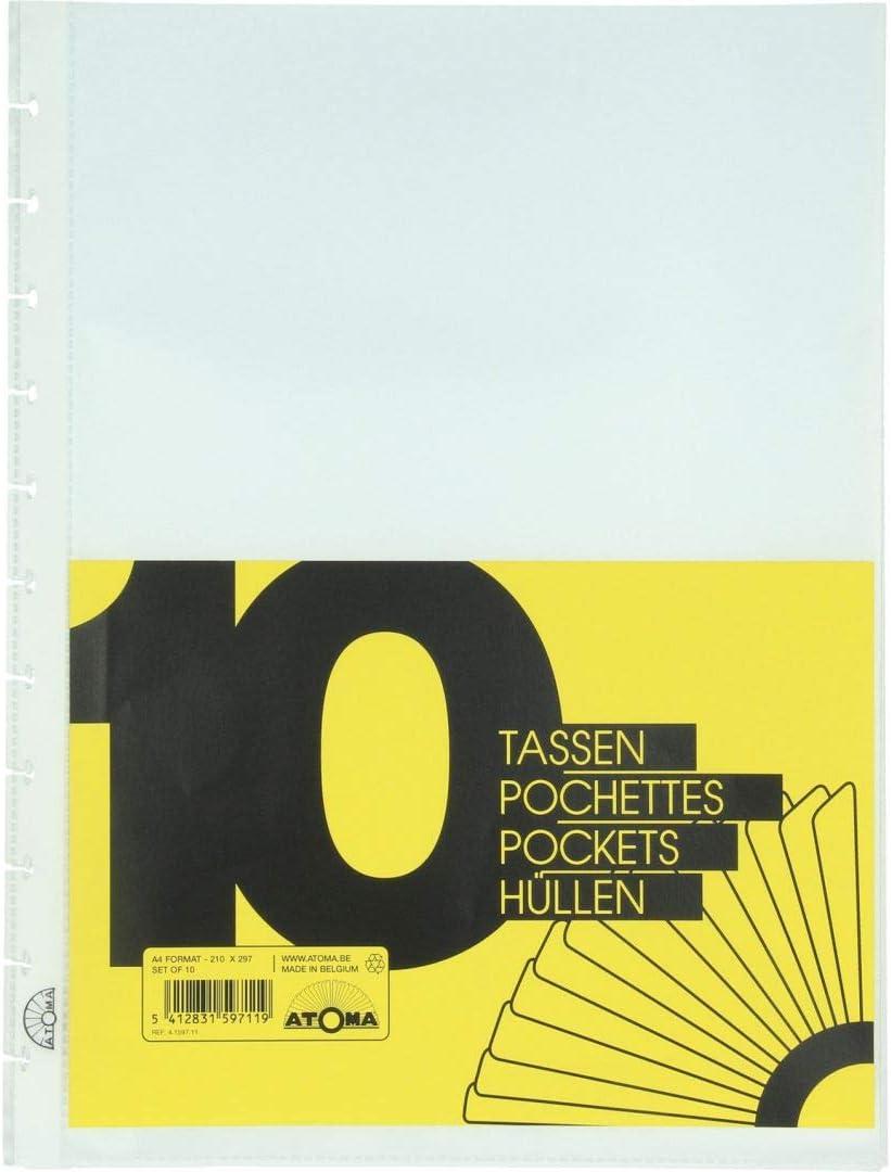 10 es. Atoma Ricarica Buste Plastificate