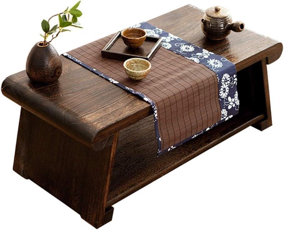 RCLD Mesas de Centro de jardín Plegable Mesa de té japonés Creativo Sencillo taiwanés Ventana Baja Antiguo pequeño Tatami Doble Muebles de Madera de Paulownia (Size : 60 * 35 * 24cm): Amazon.es: Hogar