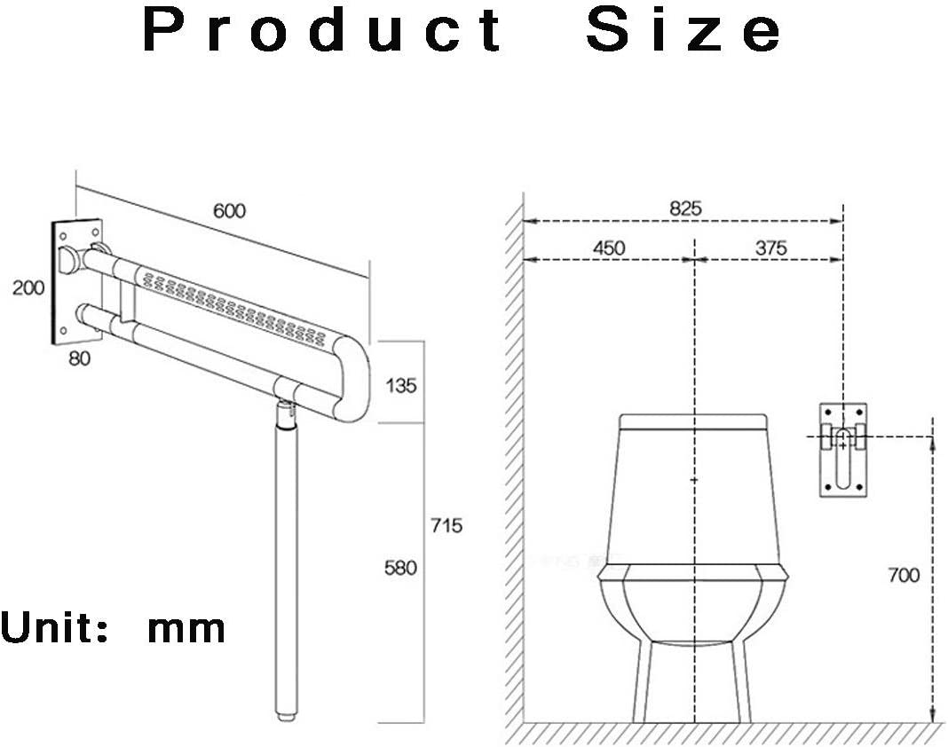 WAOBE Stainless Steel Bathroom Grab Bar Handrail//Wall Mounted Straight Towel Holder//Shower Aid /& Safety Support Handrail Bathroom Handrail for The Old Mans Safe Toilet