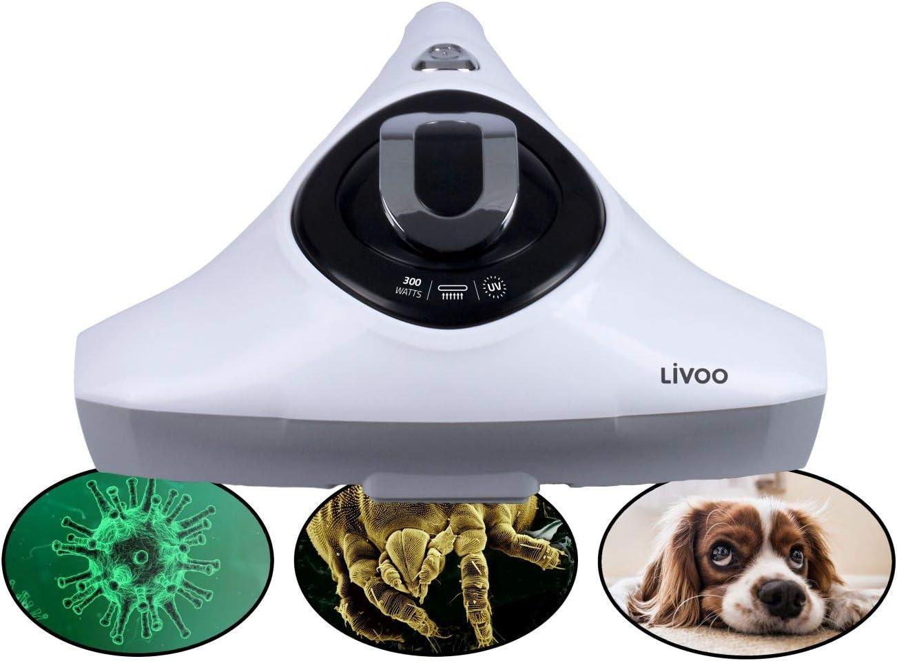 Aspirador de ácaros con luz UV y filtro HEPA para alérgicos (eliminador de pelo de animales, para colchones y aspirador de colchones): Amazon.es: Hogar