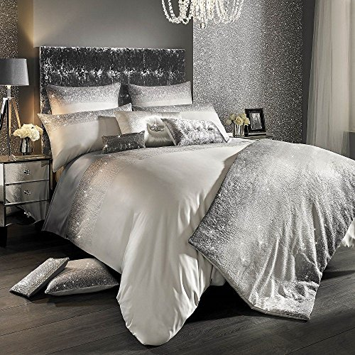 Glitter Fade Bed Linen by Kylie Minogue At Home - - New Autumn Collection 2017 AVAILABLE Now (King Duvet Cover: 230cmx220cm)