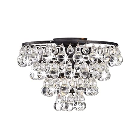 Flush Chandelier Tranquil crystal and bubble flush mount chandelier amazon tranquil crystal and bubble flush mount chandelier audiocablefo