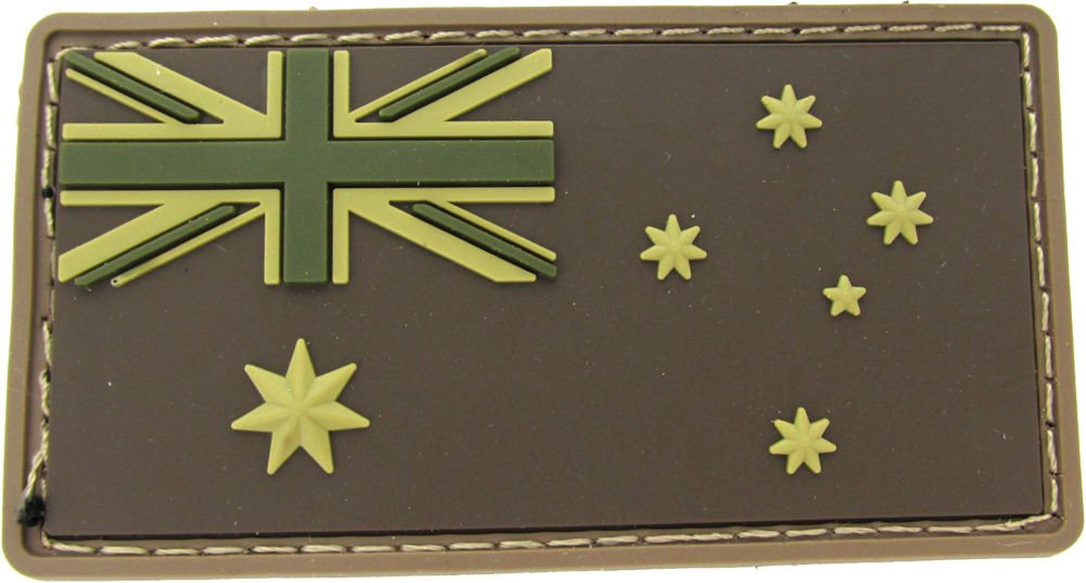 MILSPEC MONKEY AUSTRALIAN FLAG PVC MULTICAM PATCH Mil-Spec Monkey