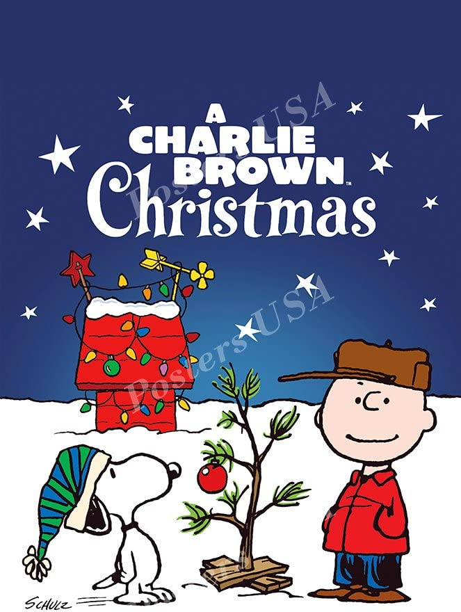 """Posters USA A Charlie Brown Christmas Movie Poster GLOSSY FINISH - FIL697 (24"""" x 36"""" (61cm x 91.5cm))"""