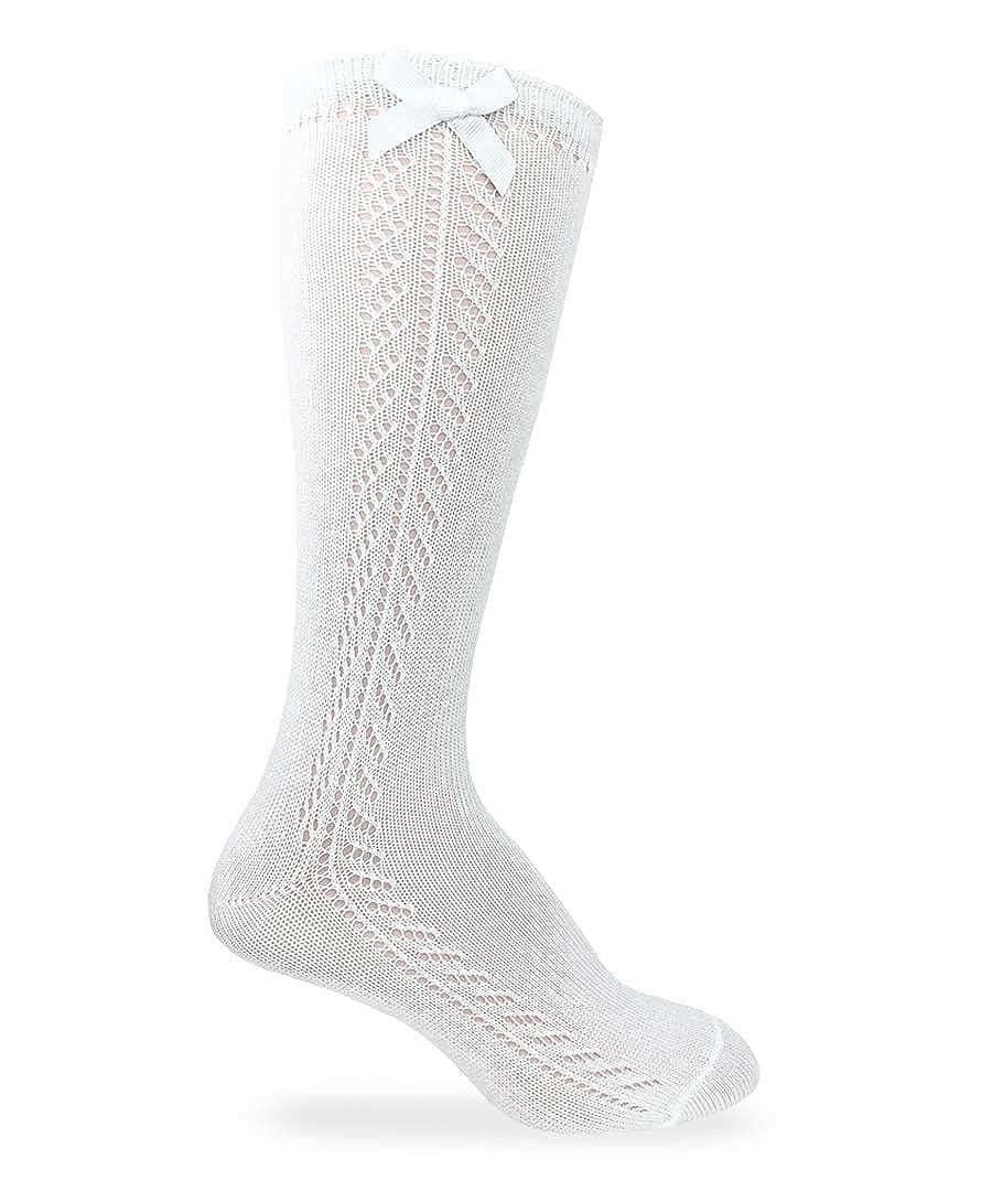Jefferies Socks Girls Pointelle Bow Knee High Socks 1 Pack