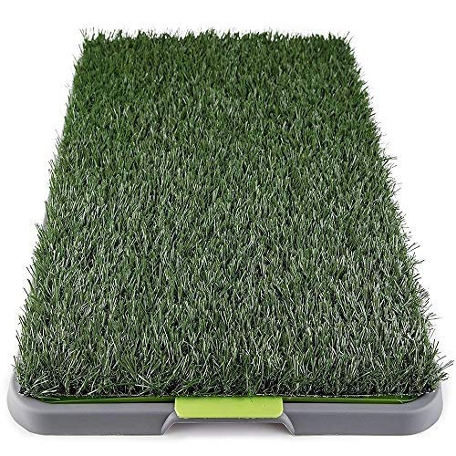 Dog Grass Pee Pad, Indoor Fake Turf Toilet Mat, Potty Artificial Grass Patch for Dogs Pet Litter Box Training Pads Best for Puppy