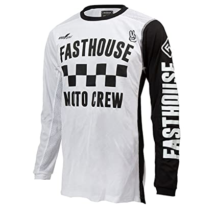 2e029b326 Image Unavailable. Image not available for. Color  Fasthouse Checkers Air  Cooled Men s Motocross Motorcycle Jersey White ...