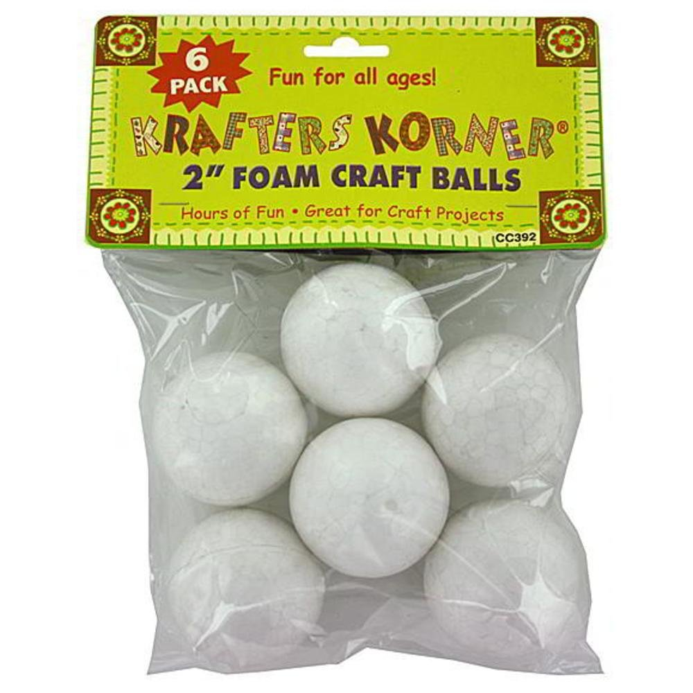 72 Foam craft balls (assorted sizes)