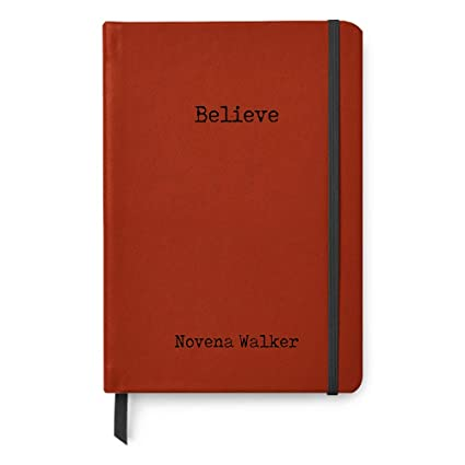 Amazon com : Believe Personalized A5 Paper Leather Dotted