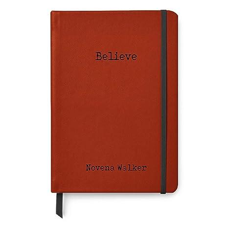 Amazon.com: Believe - Diario de piel con diseño de bala ...