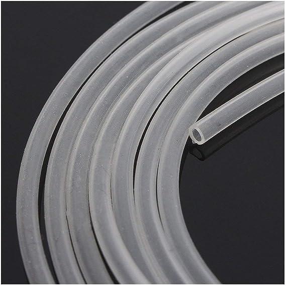 CDKJ de goma flexible manguera de 8 mm de alta temperatura de la tuber/ía de agua del aire de calidad alimentaria resistente tubo transl/úcido transparente para transferir bomba de 2 metros de largo