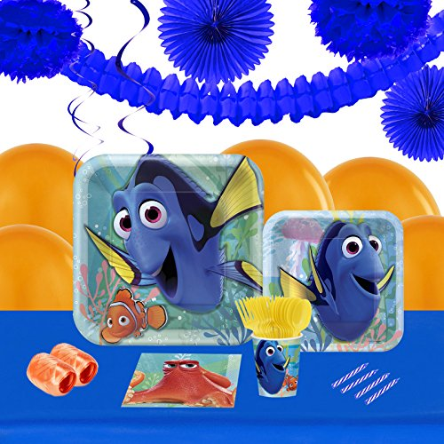 Finding Dory Childrens Birthday Party Supplies - Tableware and Decoration Pack (16) ()