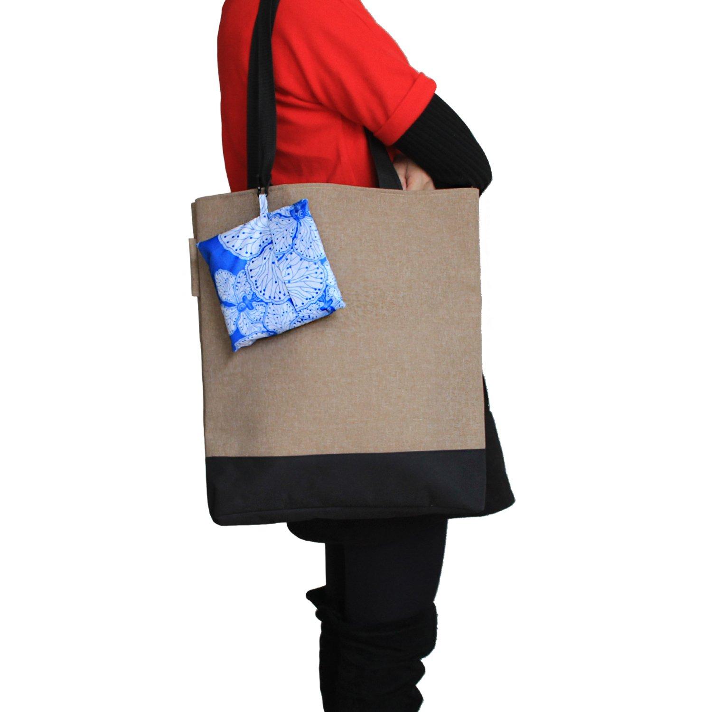 3 Piezas Bolsas para Comprar Reutilizables Luxja Bolsa Compra Plegable Bolsa Durable para Comprar Bolsa de Tela para Compras