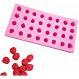 Fewo 32-Cavity 3D Raspberry Silicone Mold for Fondant Chocolate Candy Gum Paste Polymer Clay Resin Kitchen Baking Sugar Craft