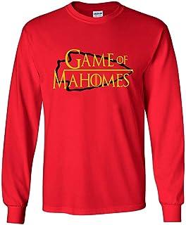 19a5aa655e4 Amazon.com: RED Kansas City Mahomes Game T-Shirt: Clothing