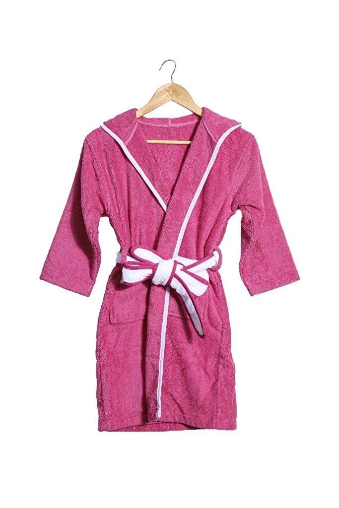 Slumber Party 100/% Terry Cotton Bathrobe for Tween Girls Pink