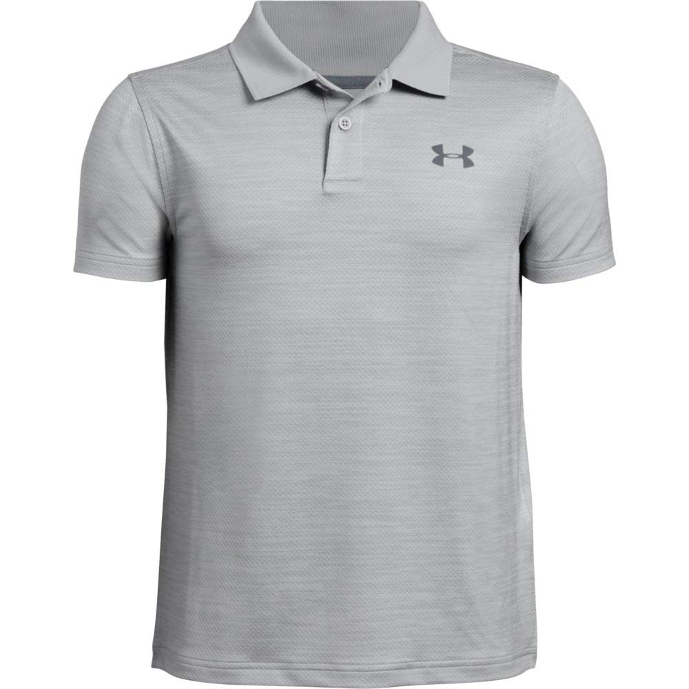 Under Armour Performance Polo 2.0, Mod Gray Light Heather//Pitch Gray, Youth X-Small