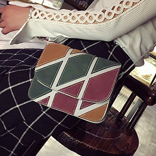 gris Widewing Bolsa Del Pu Mini Cuero Bolsa De Color De Golpe De Shouder Crossbody De Mensajero Mujeres wpqUaHFwA