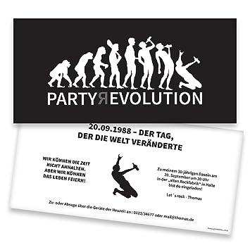 Einladungskarten Geburtstag Evolution 80 Stuck Inkl Druck
