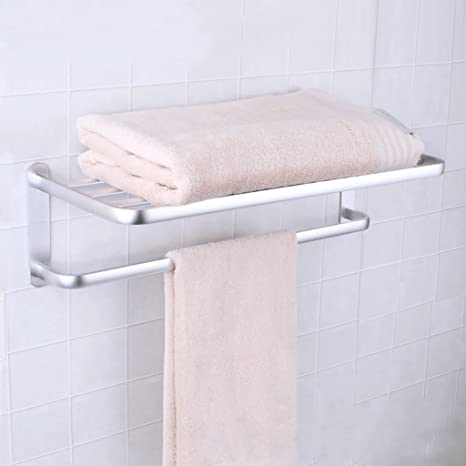 GJ-rack Toalla de Acero Inoxidable toallero de baño Doble Bastidor de Pasta Simple (