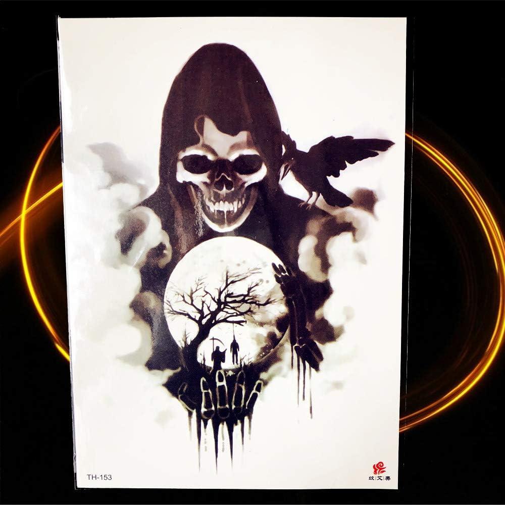 tzxdbh Halloween Horrible Demon Tattoo Mujeres Cofre Joker Mago ...