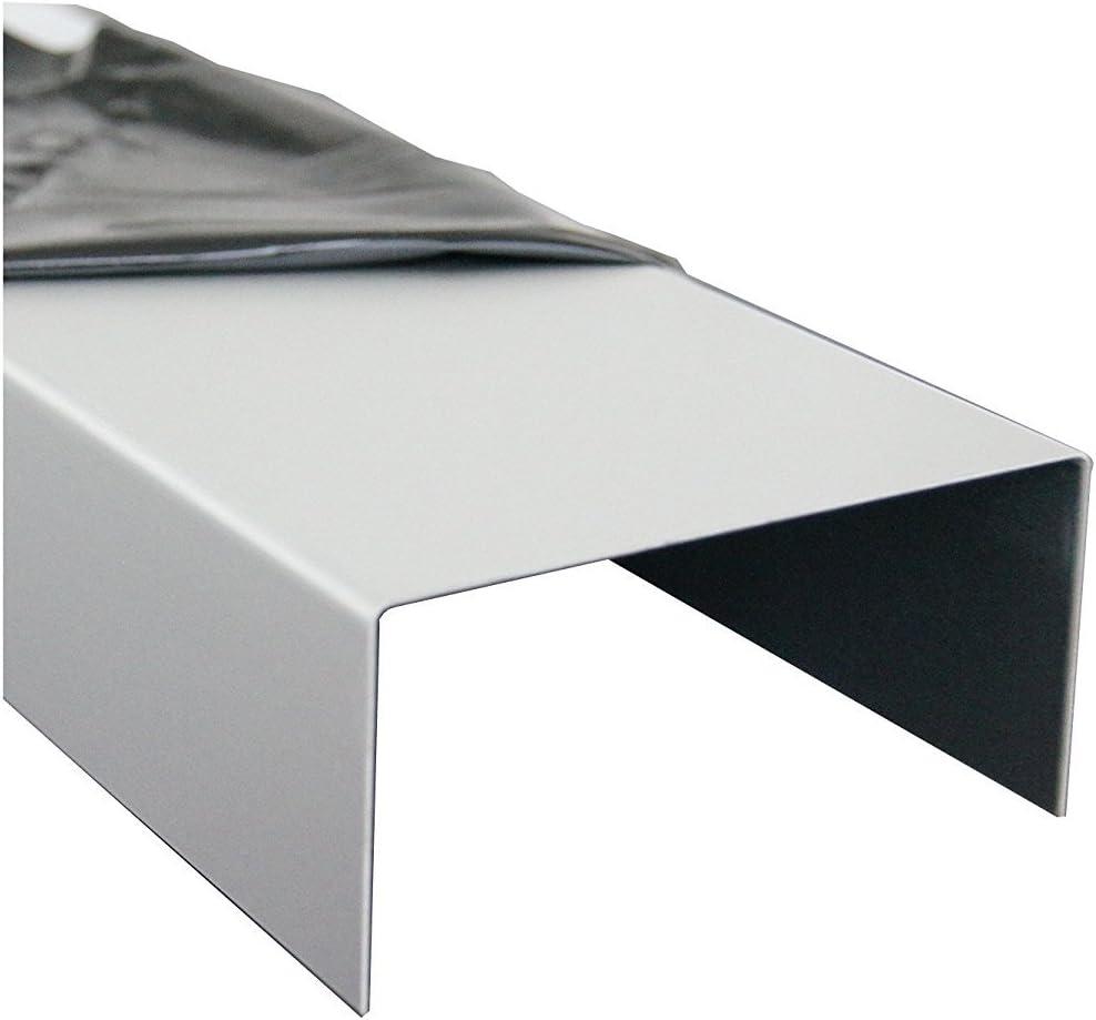 1500mm Aluminium U-Profil 15x70x15mm Abdeckprofil aus 1,5mm Aluminium Verkehrswei/ß RAL 9016 Einfassprofil Kantenprofil