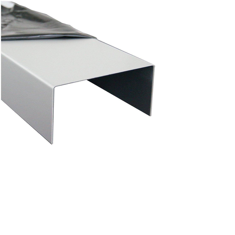 1500mm Aluminium U-Profil 15x45x15mm Abdeckprofil aus Aluminium Riffelblech Duett Tr/änenblech Kantblech kreativ bauen
