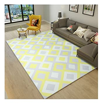 q alfombras modernas alfombra nrdica sala de estar sof mesa de centro rectangular alfombra patrn - Alfombras Modernas