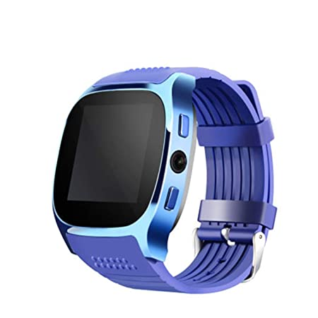 ZXRSH Reloj Inteligente Azul Bluetooth Reloj Inteligente ...