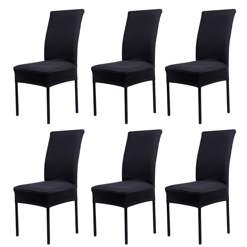 6 x housse de chaise universelle extensible pour - Housse de chaise moderne ...