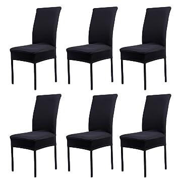 6 X Housse De Chaise Universelle Extensible Pour Dcoration Moderne Paquet
